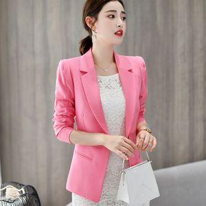 Wholesale-New Spring Elegant Women Suits Blazer Femme Work Office Blazers Women Jacket Long Sleeve Small Suit Jacket Blaser Feminino C6071