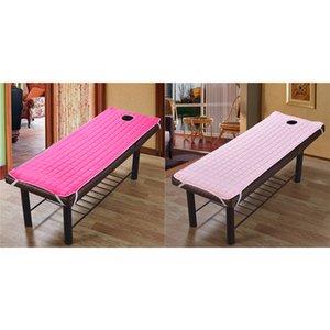 2pcs Anti-derrapante Mesa de Massagem Colchão Cosmetic Salon Camas da folha de rosto com rosto Buraco 73x28inch, Easy Fit e Remoção Pink Rose Red