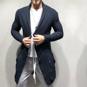 Hole Mens Designer maglioni di moda allentato Panelled Tasche Mens casuale Cardigan maglioni casual manica lunga Maschi Abbigliamento