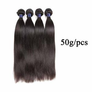 Malaysian Straight Hair Weaving 5 6 Bundles Lot 100% Brazilian Human Hair Weave Bundles 50g pc Remy Straight Hair Extension