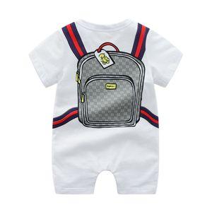 Sommer Kurzarm Strampler Baby Klettern Kleidung Aus Reiner Baumwolle Dünne Overall Neugeborenes Baby Jungen Mädchen Cartoon Kleidung Pyjama