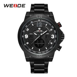 WEIDE Militär-Mann-Sport-Uhr-Selbstdatum komplette Kalenderwoche Anzeige Alarm-Quarz-Armbanduhr Relogios masculinos drop ship