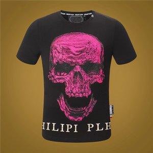 Art und Weise O-Ansatz Kurzhülse T-Shirt 2020 Art und Weise P-P Hot Bohren Schädel T Shirt Druck-Qualitäts-Mann-Frauen-Hip Hop-Männer-T-Shirt