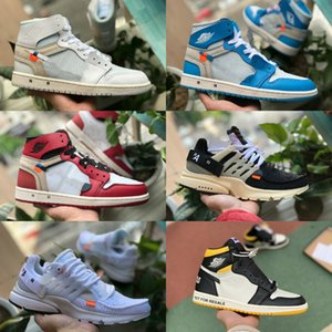 2020 white air jordan Retro off Jordans Nike Chaussures de basket Jumpman 1s Obsidian Turbo Vert Bred Retroes ASG Unc Blanc Bleu Air Femmes Sports Chaussures