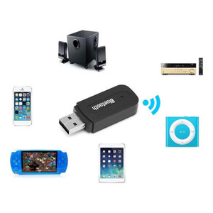 100pcs 3.5 mm Jack USB Wireless Bluetooth Music Receiver Dongle Adapter For Aux Car PC for Samsung phone car