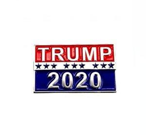 Donald Trump Buttons Pins 2020 Presidente de la campaña electoral Placa de Soporte América del regalo Suministros Los productos de la broche de la novedad DDA58