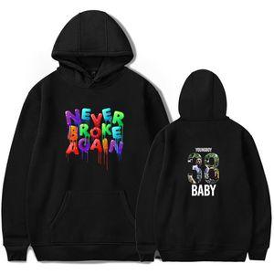 Jamais Broke Designer Novamente YoungBoy Hoodies Primavera manga comprida Pullover Casual camisola Moda Hoodies Casal