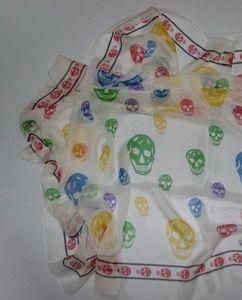 ЯВЛЯЮСЬ. Queen multicolor черепные шарфы 90x90см, 100% шелк, указку клиента Продукт