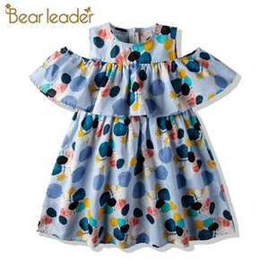 Bear Leader Girls Party Dresses New Summer Kids Polka Dot Dresses Girl Ruffles Sweet Outfits Children Vestidos Toddler Baby Suit