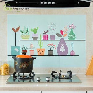 quality eco friendlyKitchen self-adhesive oil-proof stickers kitchen wall decor waterproof moisture-proof smoke-proof high tempe