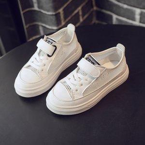 children soft Sport Sandals Mesh Canvas Summer running Shoes Kids Boys Leisure Sneakers black white SC190