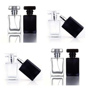 fashion 30ML Clear Black Glass Perfume Bottles Empty Cosmetic Containers Spray Bottles For Traveler portable packing bottle homeware T2I5678