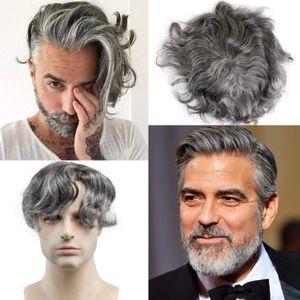 Homens peruca descartável toupee indiano remy substituição de cabelo super sistema de cabelo super fino