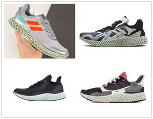 2020 Üçlü Siyah Karbon Kül Yeşil Erkek ZX 4000 Futurecraft 4D Koşu Ayakkabı Eğitmenler Erkekler Için ZX4000 Karbon Erkek Spor Eğitmen Sneakers