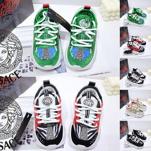 Luxury Chain Reaction Casual baroque Shoes For children Black White Pink Fashion Trainers Sports Designer kids Casual Athletic Sneaker