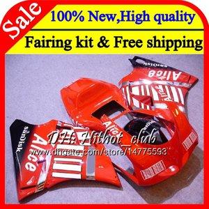 Body Red For DUCATI 748 853 916 94 95 96 97 98 99 00 01 02 18HT22 996 998 S 1994 1996 1998 1999 2000 2001 2002 Fairing Bodywork Red black