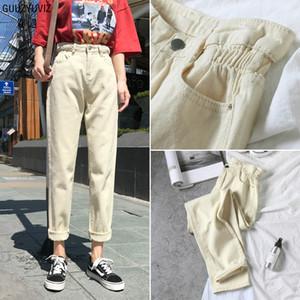 GUUZYUVIZ Casual Jeans Vintage femme taille haute Pantalon Chic Denim Taille Plus Femmes Jeans Noir Pantalons pour femmes Vaqueros Mujer