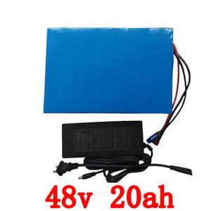 Аккумуляторная батарея 48v 20AH лития блок батарей 48V 20AH электрический велосипед батареи 48v 1000W с 30A BMS и 54.6V 2A зарядное устройство безпошлинным