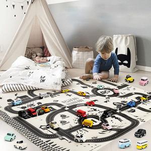 130 * 100CM bambini per auto portatile City Scene Taffic Highway Mappa Gioca Mat Giocattoli educativi per i giochi per bambini Road tappeto