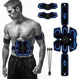 복부 근육 자극기 전자 근육 훈련 벨트 바디 슬리밍 벨트 EMS 근육 트레이너 AB 자극기 피트니스 트레이너