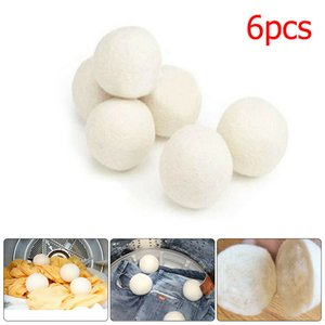 6pcs / Lot Sof Dryer Balls Reduce Strengthenles Reustener Anti Static Large Felted Wols Dryer Ball 50bag T1I1842
