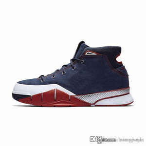 Hommes pas cher ZK1 KB1 Bryants 1 chaussures de basket-ball de protro Bleu Rouge Violet Jaune Noir Or nouveau LeBron 17 ZK tennis de baskets 1s avec la boîte