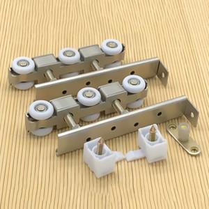 door roller muted wooden furniture sliding door pulley kitchen toilet hanging track nylon wheel glass bearing door locator hardware