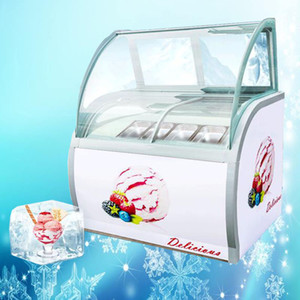 220V 8 barrels   10 boxes Hard Ice Cream Showcase ice cream dispaly cabinet commercial showcase freezer