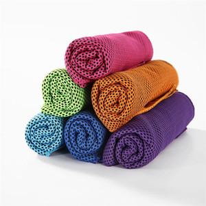 Двойной слой Ice Cold Sport Towel Охлаждение Лето Анти Sunstroke Спорт Упражнение Охладить Quick Dry Soft дышащий охлаждения Полотенце 1000шт T1I1797