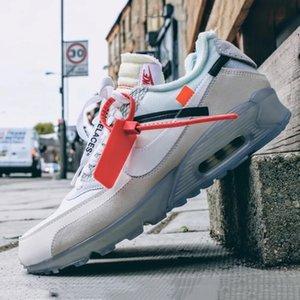 On DesignerLuxury Kapalı Beyaz X Nike Air Max 90 KIRMIZI PARRA Desert Cevheri APE SHALL asla öldür Ape Sneakers Eğitmenler Ayakkabı 36-45
