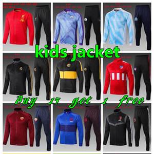2019 2020 KIDS BOYS futebol psg 19 20 real madrid crianças futebol marselha chandal futebol treino Crianças crianças treino terno jaqueta