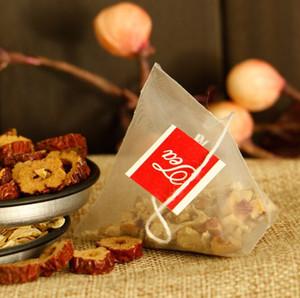 5.7 * 7cm 500pcs / lot Nylon vuoto piramide bustina di tè infusore nuovo tè colino bustine di tè