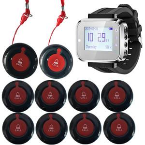Pulsante Caregiver Pager Ristorante Servizio di chiamata Sistema di chiamata 433MHZ orologio Pager Cafe / Ospedale Vecchio di emergenza avviso di chiamata
