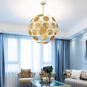 New modern chandelier lighting for living room creative design chain chandeliers  home decor led light fixtures