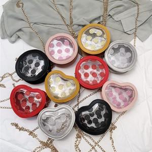 princesa bolsa meninas pontos sacos coreano bonito squin bolinhas crianças geléia coração saco lucency redondeza amor crianças Single-ombro B11