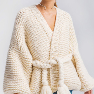 Hot Oversized Hollow Sweater Cardigan for Women Autumn Winter Long Sleeve Knitted Loose Big Size Female Casual Chunky Jumpers