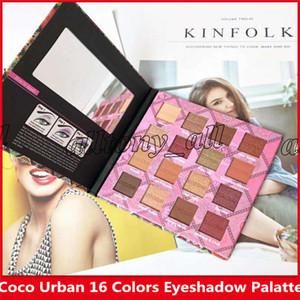 ventas al por mayor 2019 coco urban 16 colores paleta de sombra de ojos, paleta de maquillaje con alta calidad y envío rápido