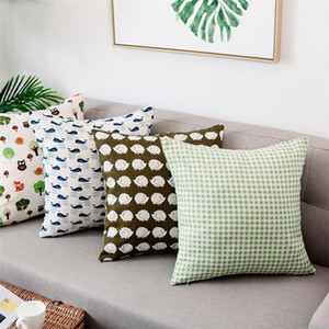 luxury throw pillows Pillowcase Heat Transfer Printing Pillow Covers OEM Cushio 45*45cm without insert bolster Oreiller