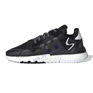 2020 hot nite jogger 3m reflective men women running shoes triple black white green top quality mens trainers sports sneakers Size us5-11
