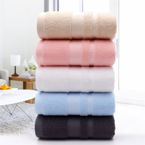 Pure cotton towel plain soft and comfortable to increase thickening adult household bath towel custom LOGO