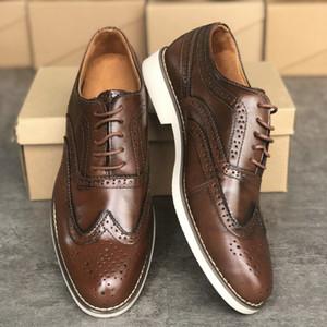 Londres brogues gatsby hommes chaussures en cuir Grenson chaussures habillées archie oxford Brogue Designer formateur Party chaussures de mariage de taille Big