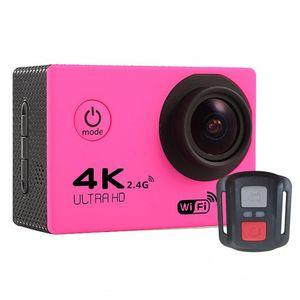 "F60R 4K 30fps 1080p 60fps WiFi 2.0"" 170D Helmet Cam waterproof Sports camera+ Remote control 7 colors"