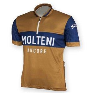 roupas usura Pro Team vestiti di riciclaggio della bicicletta retrò estivi Maglia Molteni ciclismo uomo Ciclismo Top Maillot