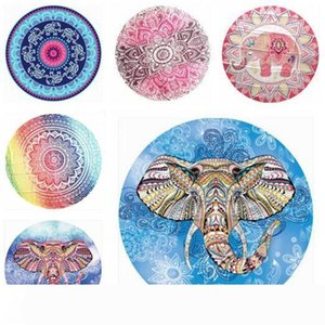 Unicorn Beach Towel Round 135 Styles Mandala Bikini Beach Cover Table Cloths Bohemian Hippie Beach Towels Shawl Bath Towel Yoga Mat Chiffon
