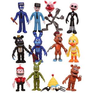 GS 12pcs set Five Nights At Freddy's FNAF Bonnie Foxy Freddy Fazbear Bear Night At Freddy Toys Action Figure toys
