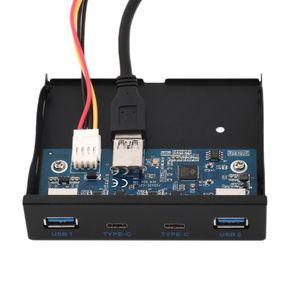 Freeshipping 3.5 '' USB 3.0 Port USB HUB + 3.1 Type C Lecteur de panneau avant Bay rack