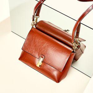 Hot Selling Small Square Bag Ladies New Retro Clamshell Luxury Portable Small Bag Designer Classic Wild Shoulder Diagonal Bag Gift 1356
