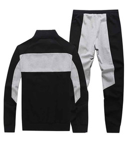 2020 New Men's Designer Tracksuits Fashion Mens Letter Embroidery Panelled Two Pieces Suit Brand Breathable Thin Men Sport Suits L-5XL