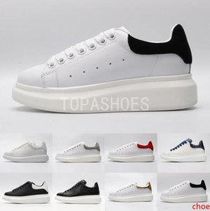 2019 ACE Cheap Black white red Luxury Fashion Designer Women Shoes Gold Low Cut Leather Flat designers men womens Casual sneakers 36-44