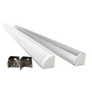 45 Grado de esquina del perfil de aluminio llevó la tira y V Tipo de perfil Instalaciones del canal para la cocina Lámparas Led tira o gabinete